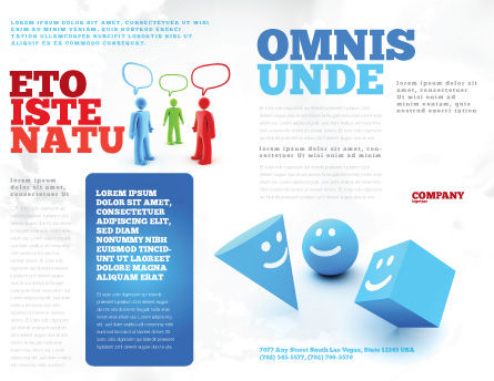 Smiles Brochure Template, Outer Page, 04495, Education & Training — PoweredTemplate.com