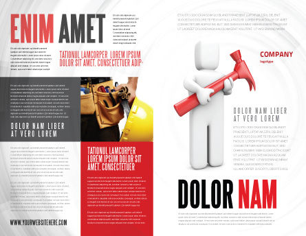 Hammer Man Brochure Template, Outer Page, 04496, Utilities/Industrial — PoweredTemplate.com