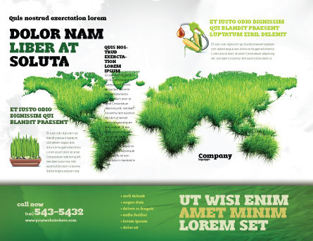 Green Grass of World Brochure Template, Outer Page, 04500, Nature & Environment — PoweredTemplate.com
