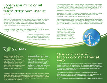 Green Socket Brochure Template, Inner Page, 04502, Careers/Industry — PoweredTemplate.com