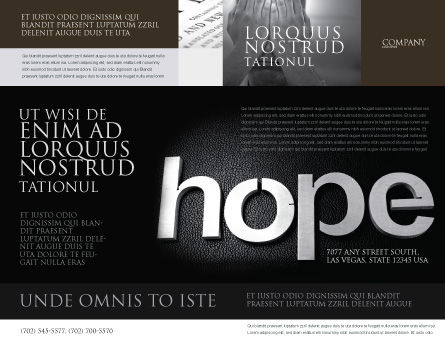 Hope Brochure Template Outer Page