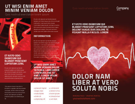 Heartbeat Brochure Template Outer Page