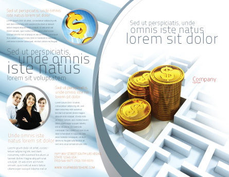 Making Money Brochure Template Outer Page
