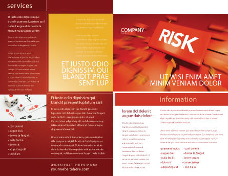 Risk Block Brochure Template, Outer Page, 04516, Business — PoweredTemplate.com