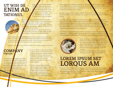 Leonardo Da Vinci Brochure Template, Inner Page, 04517, Education & Training — PoweredTemplate.com