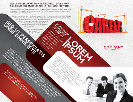 Career Building Brochure Template, Outer Page, 04528, Careers/Industry — PoweredTemplate.com