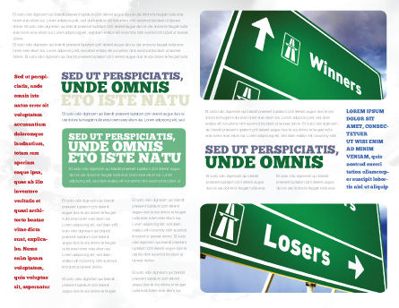 Losers and Winners Brochure Template, Inner Page, 04530, Consulting — PoweredTemplate.com