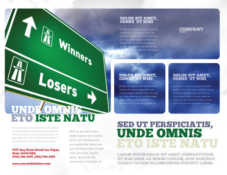 Losers and Winners Brochure Template, Outer Page, 04530, Consulting — PoweredTemplate.com