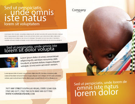 African Baby Brochure Template, Outer Page, 04531, People — PoweredTemplate.com