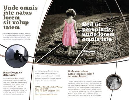Suicidal Brochure Template, Outer Page, 04551, Religious/Spiritual — PoweredTemplate.com