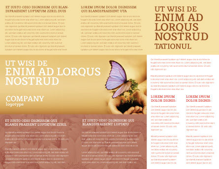 Butterfly In Your Hands Brochure Template, Inner Page, 04567, Nature & Environment — PoweredTemplate.com