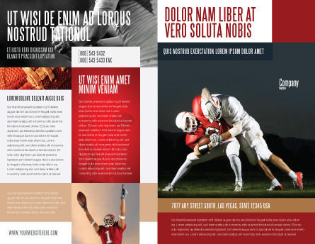 American Football New Orleans Saints Brochure Template Outer Page