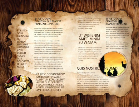 Birth of Christ Brochure Template, Inner Page, 04574, Religious/Spiritual — PoweredTemplate.com