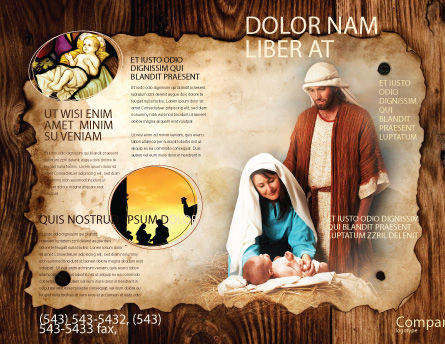 Birth of Christ Brochure Template, Outer Page, 04574, Religious/Spiritual — PoweredTemplate.com
