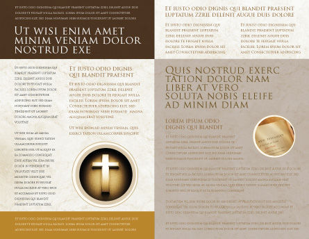 St Family Religion Brochure Template Inner Page