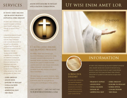church brochure template - st family religion brochure template design and layout