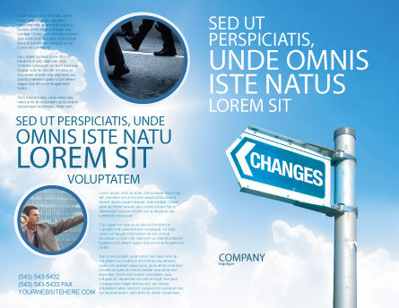 Changes Brochure Template Outer Page