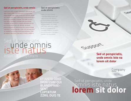 Cripple People Support Brochure Template, Outer Page, 04593, Medical — PoweredTemplate.com