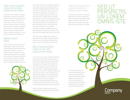 Green Solution Brochure Template, Inner Page, 04597, Nature & Environment — PoweredTemplate.com