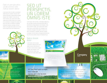 Green Solution Brochure Template, Outer Page, 04597, Nature & Environment — PoweredTemplate.com