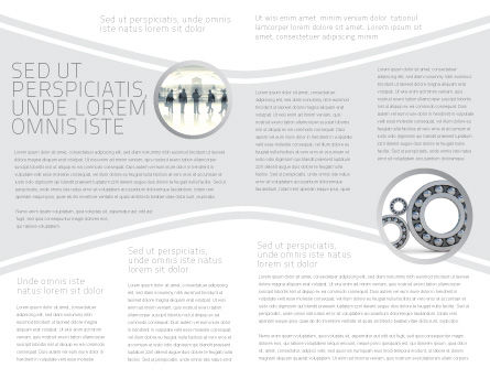 Process Brochure Template, Inner Page, 04598, Utilities/Industrial — PoweredTemplate.com