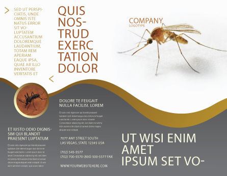 Mosquito Brochure Template, Outer Page, 04599, Agriculture and Animals — PoweredTemplate.com