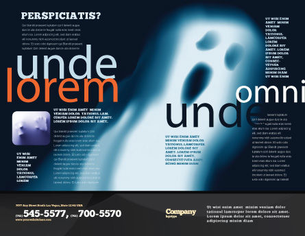 Ghost Brochure Template Outer Page