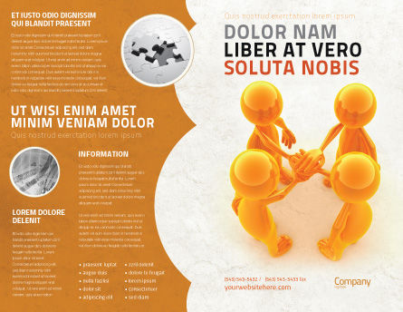 Unanimity Brochure Template Outer Page