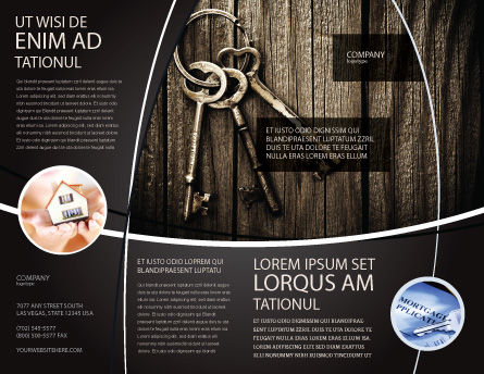 Keys Brochure Template, Outer Page, 04609, Education & Training — PoweredTemplate.com