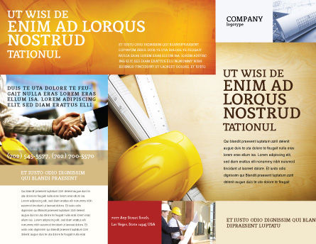 Foreman Brochure Template Outer Page