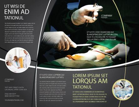Plantilla de folleto - incisión quirúrgica, Página externa, 04619, Médico — PoweredTemplate.com