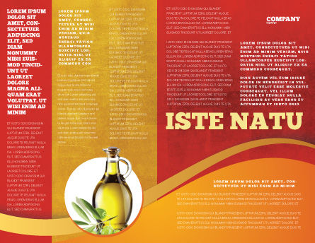 Olives Brochure Template, Inner Page, 04622, Agriculture and Animals — PoweredTemplate.com