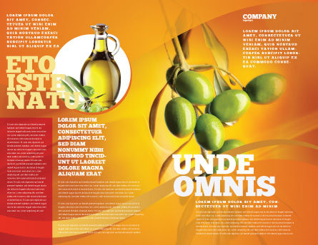 Olives Brochure Template, Outer Page, 04622, Agriculture and Animals — PoweredTemplate.com