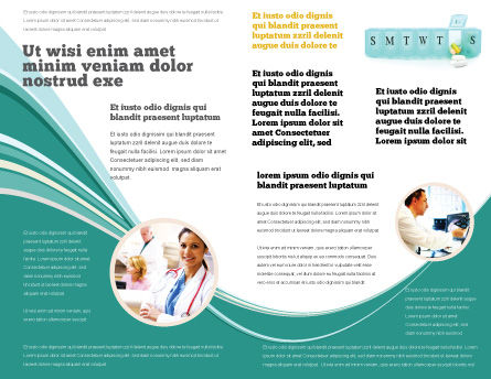 Medication Dosage Brochure Template, Inner Page, 04625, Medical — PoweredTemplate.com