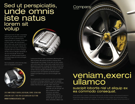 Driving Wheel Brochure Template Outer Page