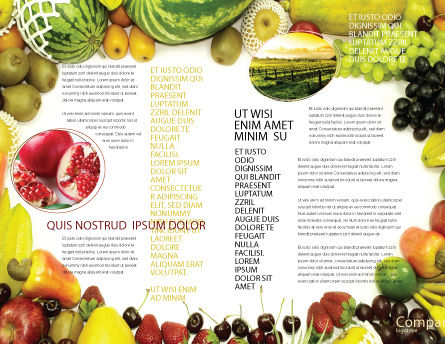 Fruit Profusion Brochure Template, Inner Page, 04634, Agriculture and Animals — PoweredTemplate.com