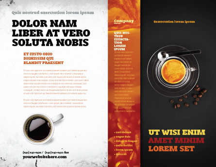 Coffee Shop Brochure Template, Outer Page, 04643, Food & Beverage — PoweredTemplate.com