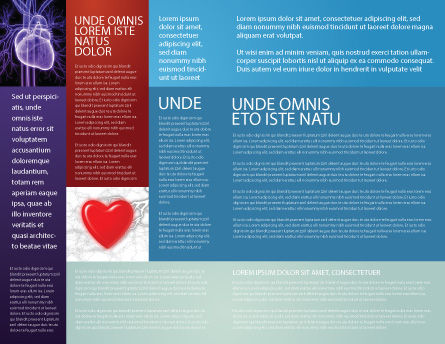 Artificial Heart Brochure Template Inner Page