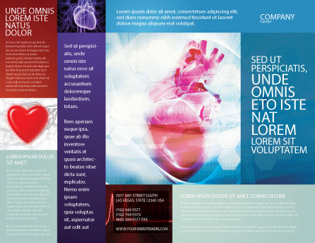 Artificial Heart Brochure Template Outer Page