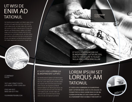 Good Book Brochure Template, Outer Page, 04645, Religious/Spiritual — PoweredTemplate.com