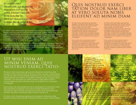 Floristic Brochure Template, Inner Page, 04648, Nature & Environment — PoweredTemplate.com