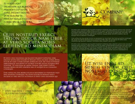 Floristic Brochure Template, Outer Page, 04648, Nature & Environment — PoweredTemplate.com