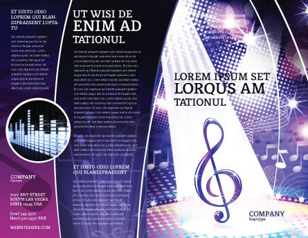 Music Tune Brochure Template, Outer Page, 04663, Art & Entertainment — PoweredTemplate.com