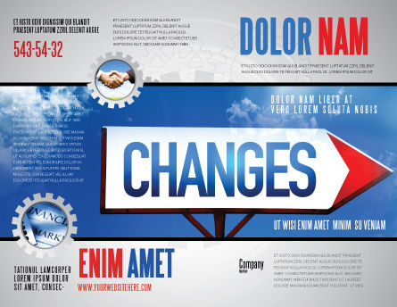 Way To Changes Brochure Template Outer Page