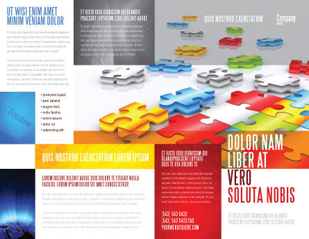 Puzzle Diversity Brochure Template, Outer Page, 04680, Business Concepts — PoweredTemplate.com