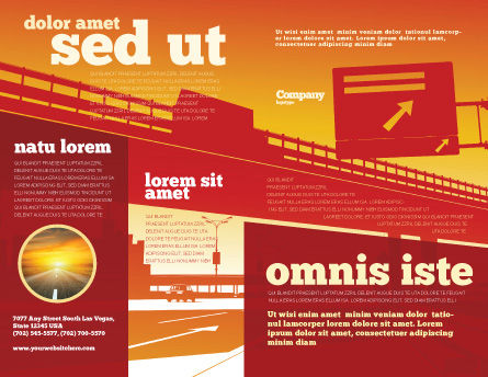 Road Way Brochure Template, Outer Page, 04692, Construction — PoweredTemplate.com