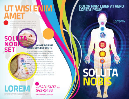Body Chakras Brochure Template, Outer Page, 04696, Medical — PoweredTemplate.com