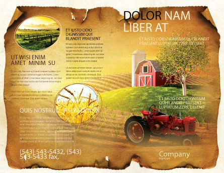 Life On The Farm Brochure Template Outer Page