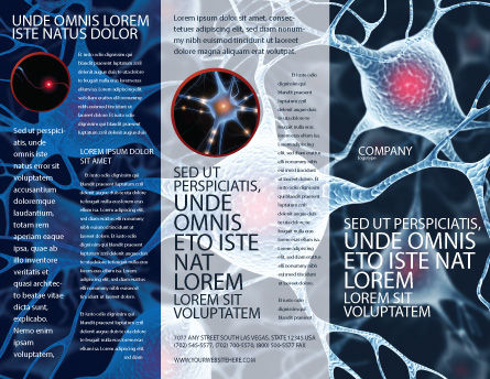 Neurons Brochure Template Outer Page