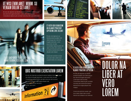 Departure Zone Brochure Template Outer Page